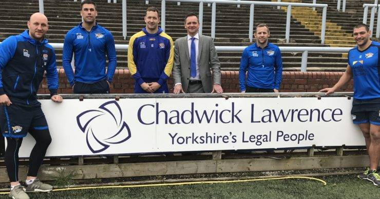 Chadwick Lawrence Official Legal Partners for Leeds Rhinos for another Year