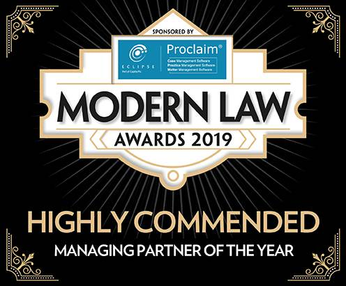 Modern Law Awards 2019: Highly Commended Managing Partner of the Year