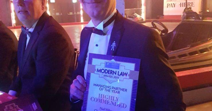 Chadwick Lawrence Highly Commended for Managing Partner of The Year Award at The Modern Law Awards