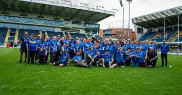 CHADWICK LAWRENCE TAG THEIR SUPPORT FOR THE ASPIRE COMMUNITY BENEFIT SOCIETY AT LEEDS RHINOS FOUNDATION FESTIVAL