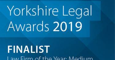 CHADWICK LAWRENCE SHORTLISTED FOR THREE YORKSHIRE LEGAL AWARDS 2019