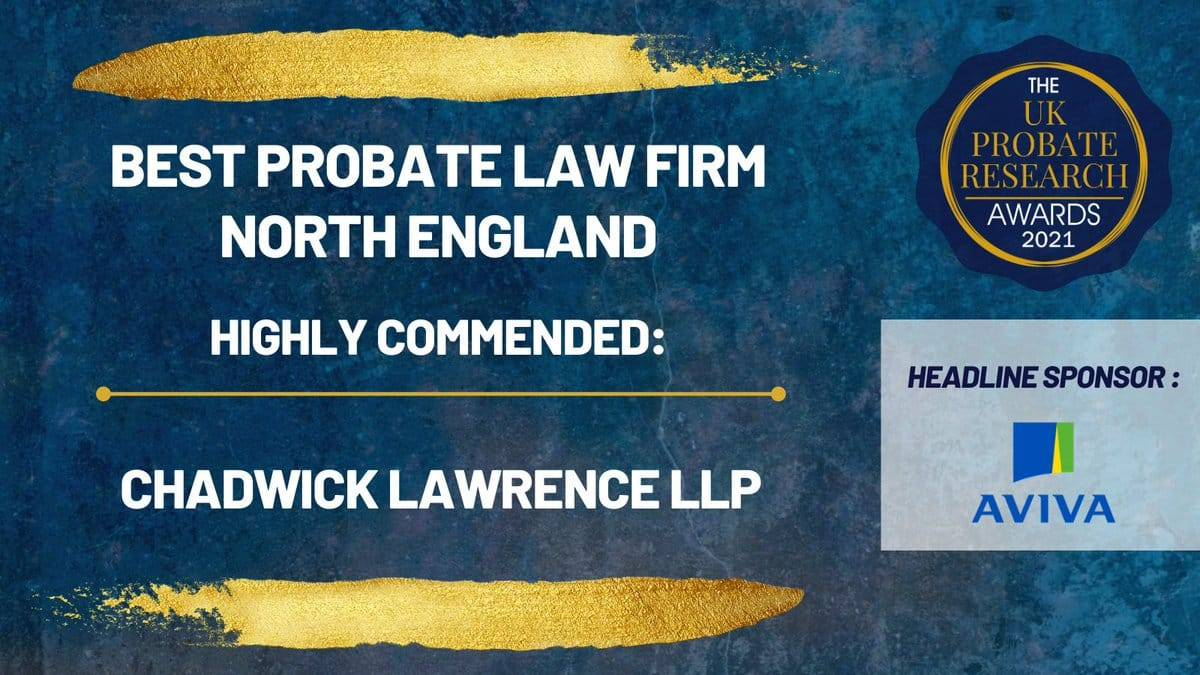 Highly Commended – Best Probate Law Firm North of England